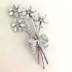 Vintage Signed Coro Bouquet Brooch